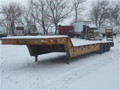 1980 Trail King Fixed Neck Tri/A Lowboy Trailer