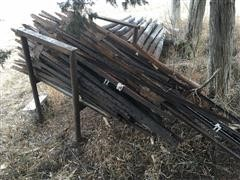 Rack Full Of Steel T-Posts