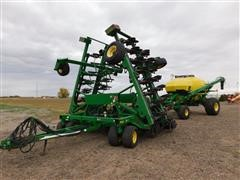 2009 John Deere 1890  Seeder/1910  Cart No Till Air  Drill With Commodity Air Cart