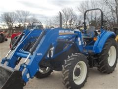 2015 New Holland Powerstar T4.75 MFWD Tractor w/655 TL Loader
