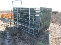 "Premium Storage Buildings Coral Panels w/42"" Walk In Gate Panel"