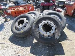 Alcoa Aluminum 275/70R22.5 Tires & Rims