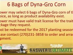 Choice of (6) Bags of Dyna-Gro Seed Corn
