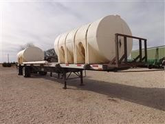 1998 Transcraft FB T/A Flatbed Trailer With 2) 3200 Gal Tanks And Pumps