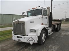 1993 Kenworth T800 Conventional T/A Flatbed Truck