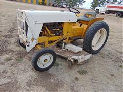 1975 International 185 Loboy Compact Cub Cadet Tractor w/Mower