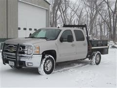 2008 Chevrolet 2500HD 4x4 Crew Cab Flatbed Pickup