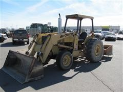 1995 Ford 545D 2WD Tractor w/Loader & Box Blade